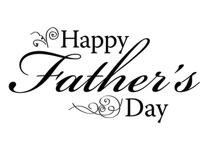 Happy Fathers Day type for card or ad Only Father Clipart Black And White